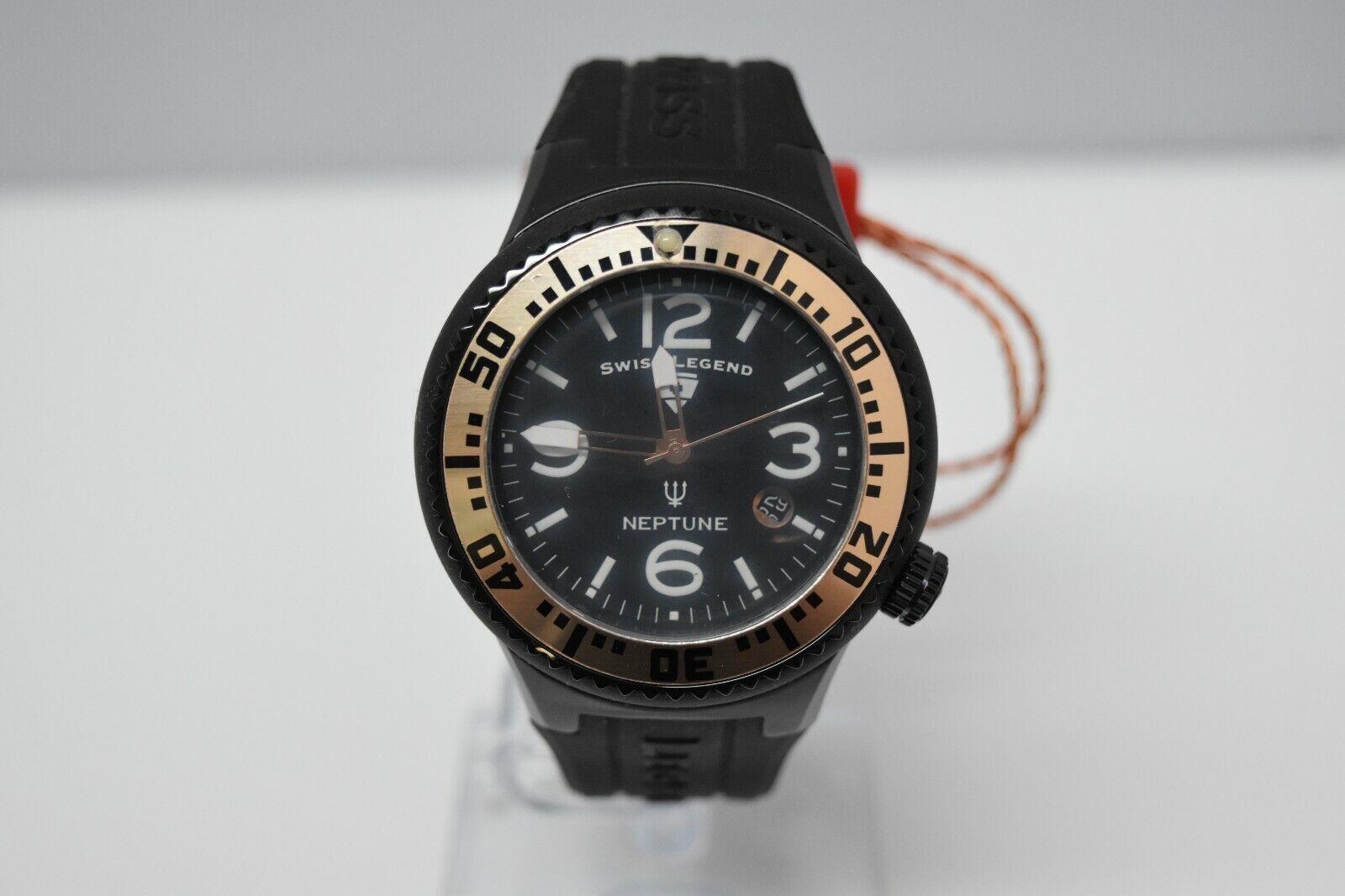 Swiss Legend Swiss Sapphitek 48mm SL-21848P Watch All Black/RG