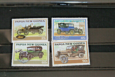 PAPUA NEW GUINEA - HISTORICAL CARS - BOTH MNH