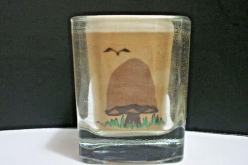 Sand Art Mushroom Candle Holder