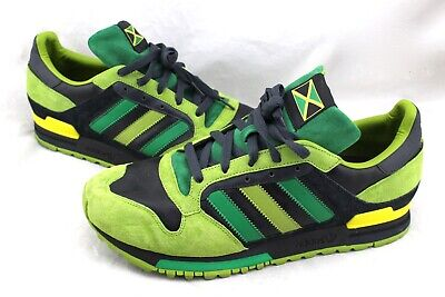 ADIDAS APE 779001 RARE Jamaica Flag Green Lime Suede Leather Sneakers Men
