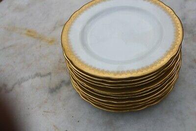 10 Gold Encrusted Salad Plates by Pirkenhammer