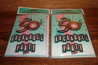 50s Themed Invitations (#16 ct Retro 1950's Theme Party Invitations * The 50's Rock & Roll Party *  )