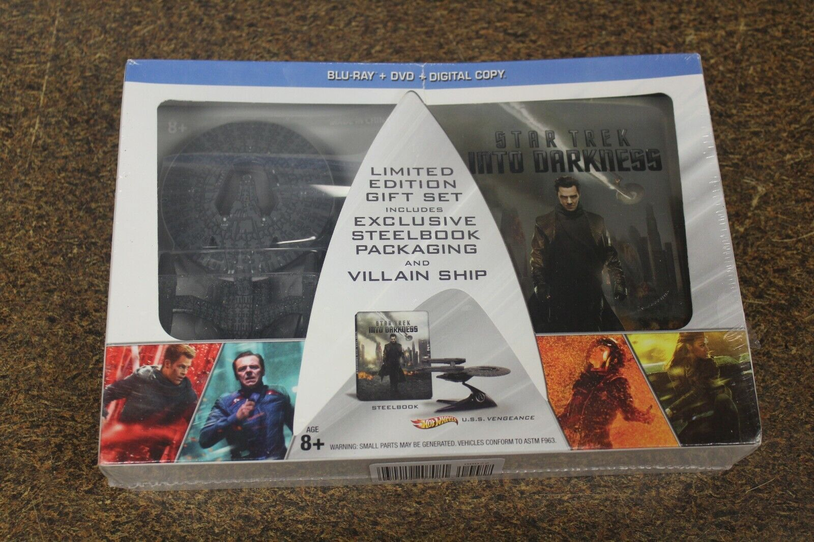 NEW Steelbook Star Trek Into Darkness Blu-ray Hot Wheels Vil