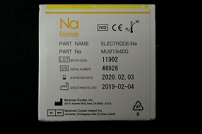 Beckman Coulter Mu919400 Ion-selective Ise Sodium Na Electrode Exp Feb 2020