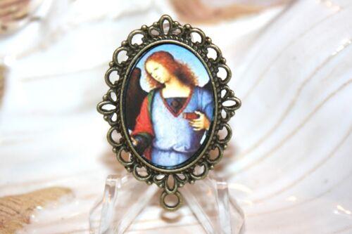 St. Raphael the Archangel Rosary Center/Antique Silver, Antique Gold or Bronze