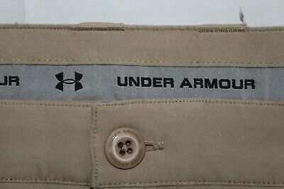 UNDER ARMOUR Men's 40 X 32 Tan Single Pleated Cuffed Golf Athletic Pants