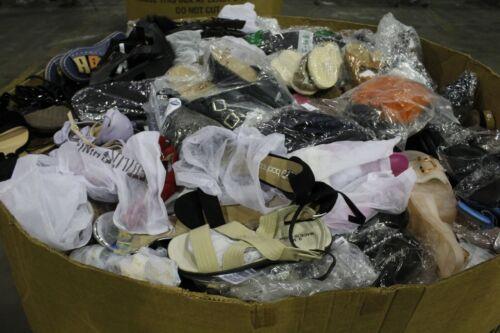 Huge Pallet Wholesale Lot Men/Women Sandals/Slides etc. Asst Brand/Style & Size