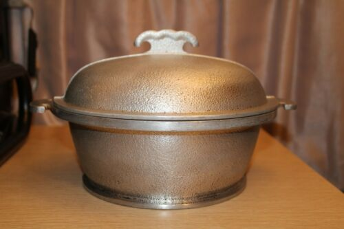 "GUARDIAN SERVICE Hammered Aluminum 9"" Dutch Oven Pot with Lid Vintage"