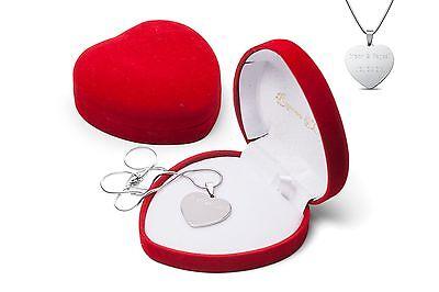 Herz Anhänger + Kette HERZBOX mit Gravur Geschenk zur Ostern Herz Frauengeschenk