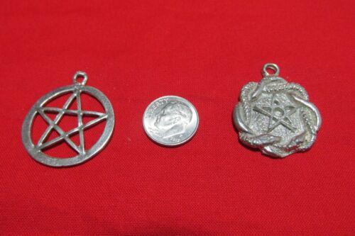 Dozen Pewter Pentagram Pentacle Wiccan  Pendants Six Of Each