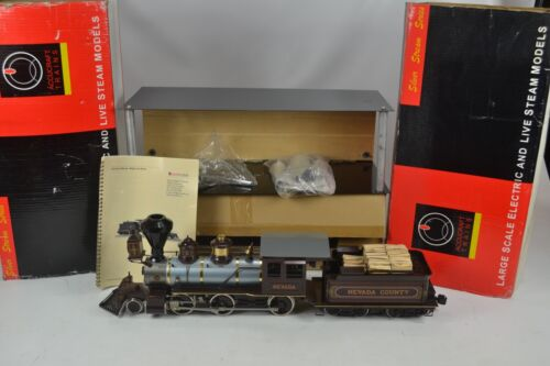 ACCUCRAFT G SCALE LIVE STEAM MOGUL, NEVADA, 2-6-0, LOCOMOTIVE, NEAR MINT, BOXED