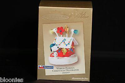 Hallmark Peanuts Snoopy World-Famous Christmas Decorator OrnamentNEW