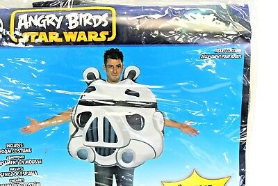 White Bird Costume (Angry Birds/Star Wars Stormtrooper Adult Costume, White, One)