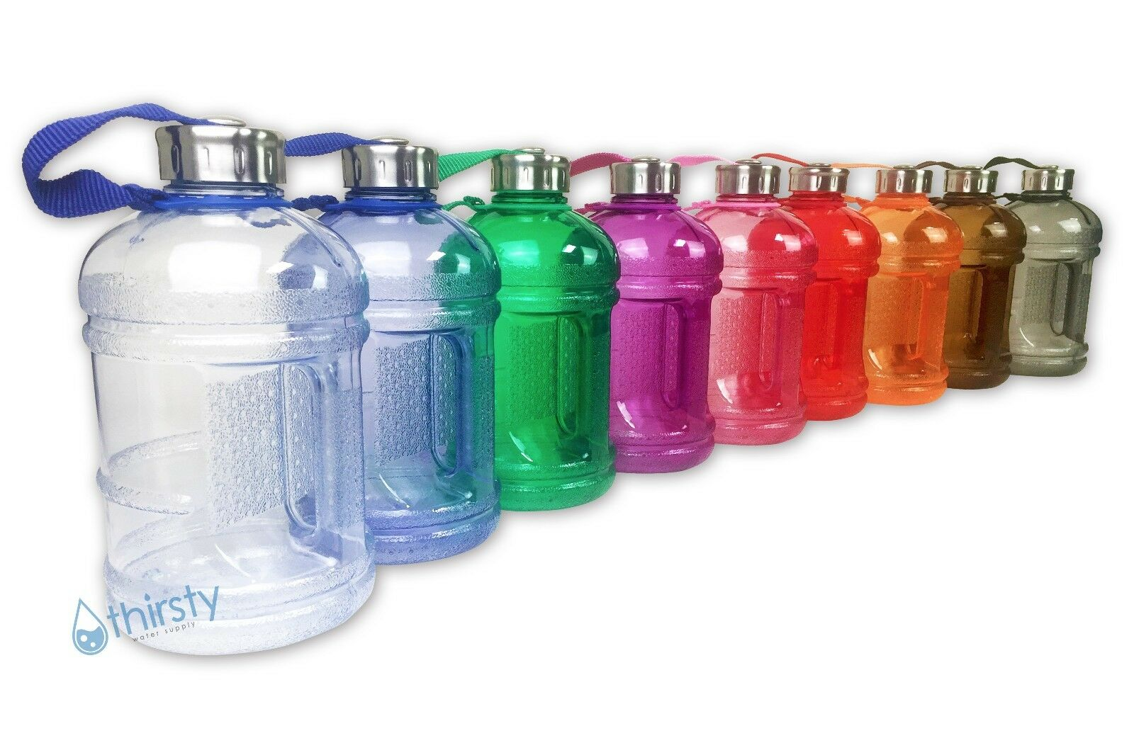 BPA Free Water Bottle Half Gallon Drink Canteen Jug Containe