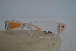 Ray-Ban-Occhiale-Da-Vista-Asta-larga-139-trasparente-arancione-plastica-md5076