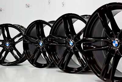 "20"" Bmw 640i 650i 550i 535i 373 M Factory OEM Wheels Black Rims staggered 20"