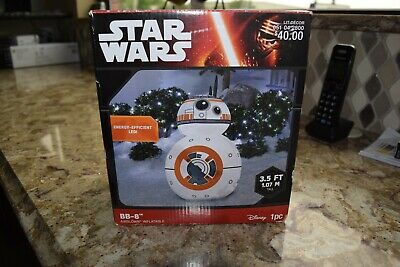 Disney Star Wars BB-8 airblown inflatable 3.5 Ft lighted christmas decoration