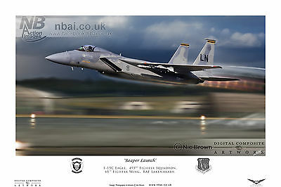 493rd Fighter Squadron, F-15C Eagle, 48th FW RAF Lakenheath, Digital Artwork