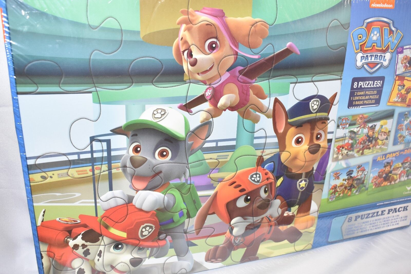 Brand New, Paw Patrol 8 Puzzle Pack, Factory Sealed, Nickelo
