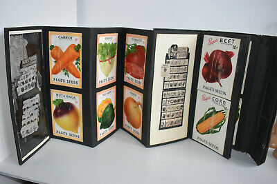 Vintage ADVERTISING Salesmans PAGE`S SEED SAMPLE Catalogue