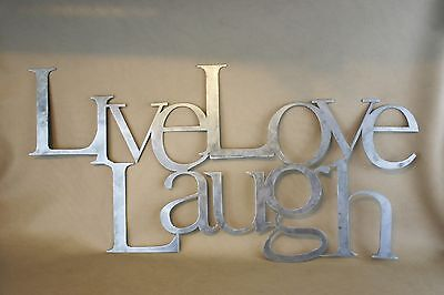 Live Love Laugh Plasma Cut Metal Wall Art Hanging Home Decor