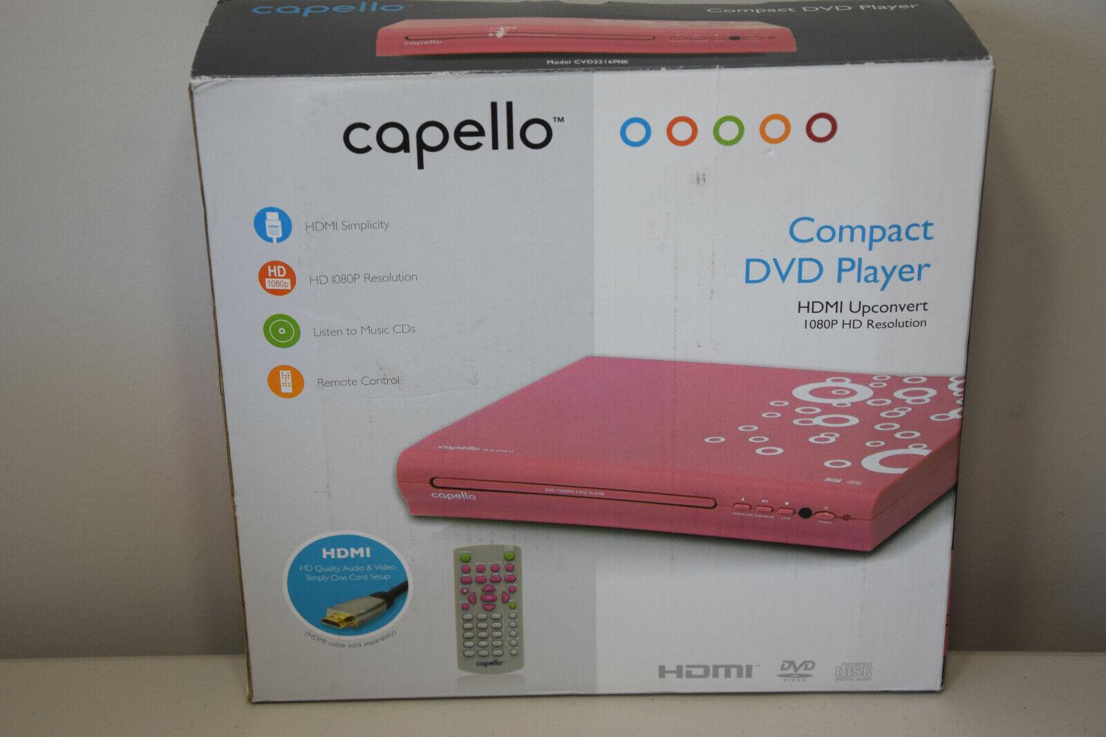 Capello 2 Channel DVD Player, Front Loading, Progressive Sca