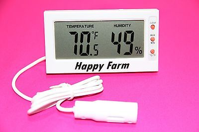 Digital Egg Incubator Thermometer Hygrometer Remote Sensor 32 Wire
