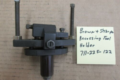 "Brown & Sharpe recessing tool holder 1"" shank"
