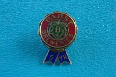 Vintage 14K Gold Pabst Breweries 5 Yr. Service Award Pin