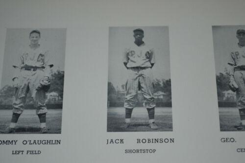 1937 JACKIE ROBINSON BASEBALL SS PASADENA JUNIOR COLLEGE YEARBOOK W BROTHER MACK