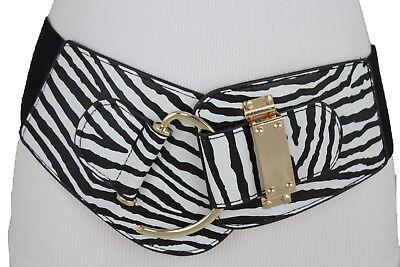 Women Fashion Wide Stretch Fabric Belt High Waist Hip Waistband Party Square S M