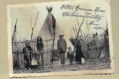Native American Home Oklahoma Territory circa 1890's, Indian Teepee --- Postcard