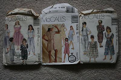 Lot of Sewing Patterns Girls McCalls Size 7 8 10 CUT #5476 #5340 #8056