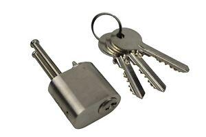 Scandinavian External Oval Lock Cylinder Barrel Silver To Suit Assa  Ruko Locks