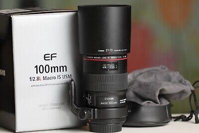 Canon EF 100mm f/2.8L IS USM Macro Camera Lens (3554B002) Incl. Tripod Collar
