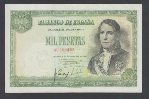 Spain  1000 Pesetas 04-11-1949 VF+  P. 138,    Banknote, Circulated
