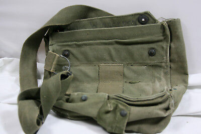 Vintage US MILITARY FIELD PROTECTIVE GAS MASK BAG M9 M17 M40 POUCH WWII, used for sale  Waco