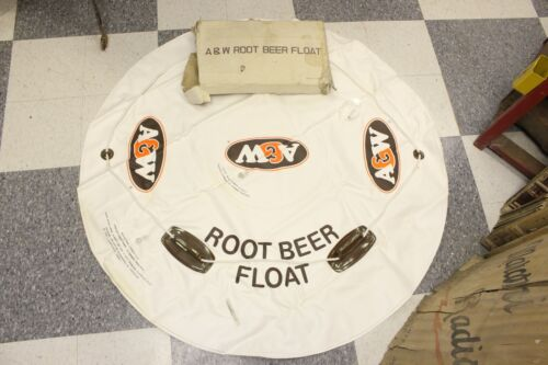 Vintage Authentic A&W Root Beer Float Blow Up Advertising Snow Water Tube