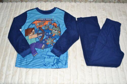 Minecraft 2-Piece Pajamas Boys Size 10/12 Fleece