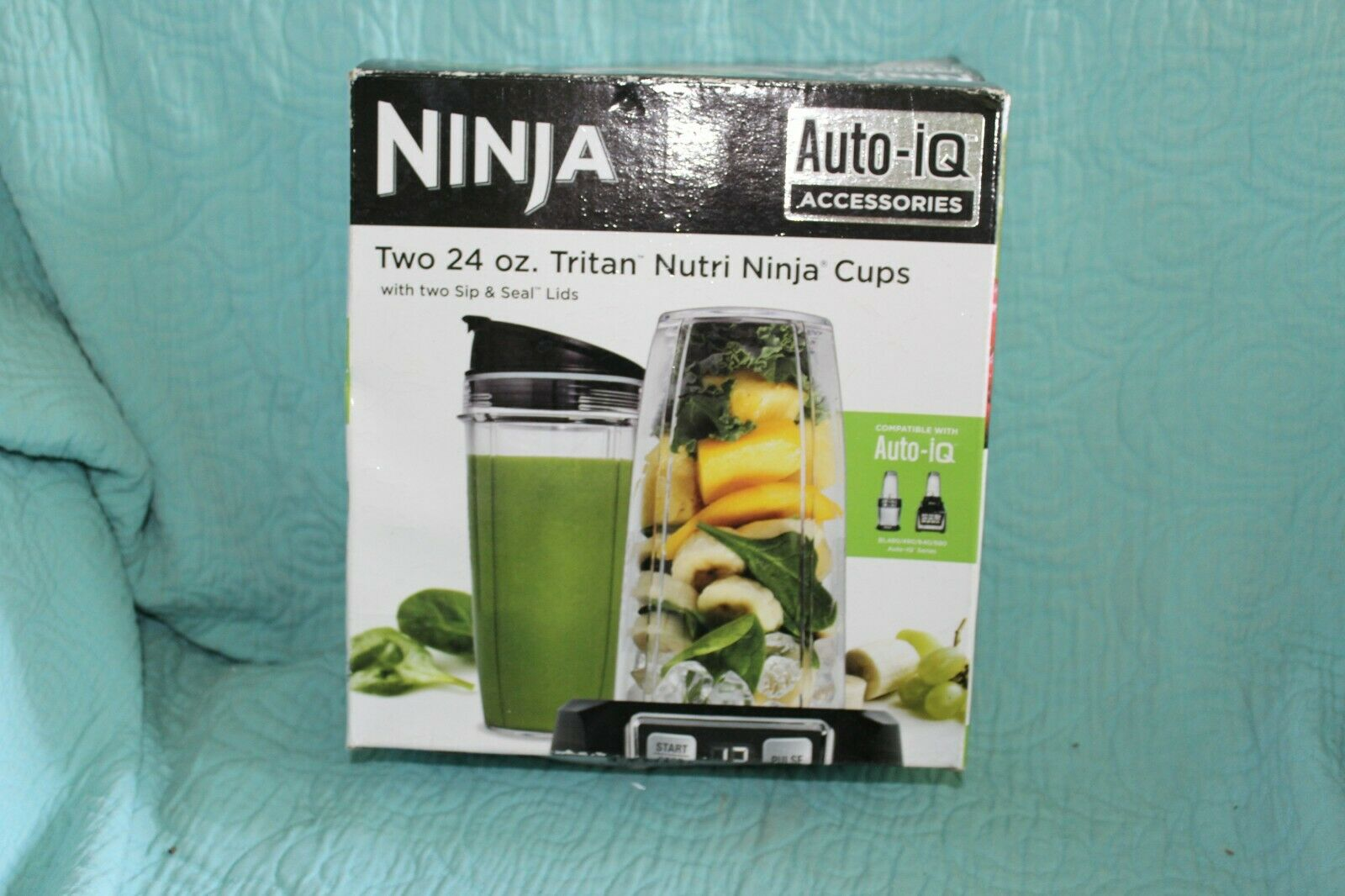 Nutri Ninja 24-Ounce BPA-Free Tritan Cup with Spout Lid for