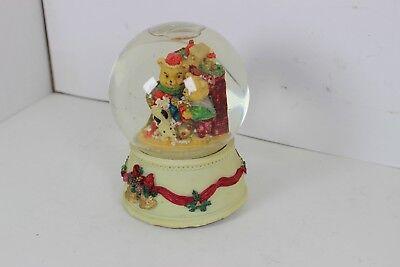 Vintage Snow Globe Music Box 2 Bears DOG