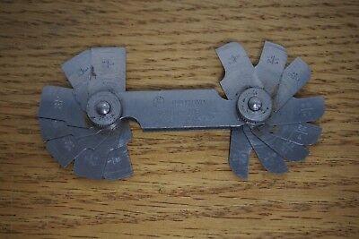 Mitutoyo 186-103 Radius Gage Set 16 Pairs Of Leaves