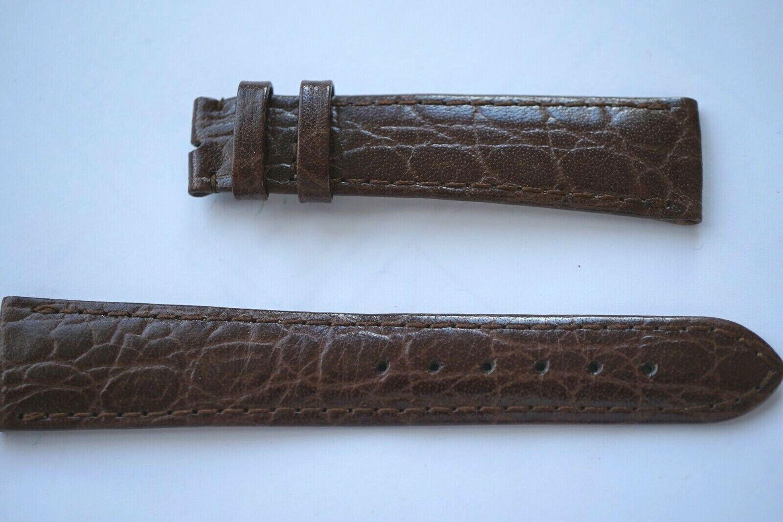 Zenith Krokodil Uhrenarmband 20 mm Braun