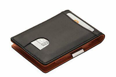 Portemonnaie mit GELDKLAMMER für Herren Kreditkartenetui Geldclip Geldbörse Neu - Geldbörse Mit Geld-clip