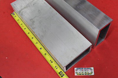 2 Pieces 2 X 4 X 14 Wall Aluminum Rectangle Tube 12 Long 6061 T6