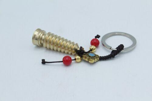 Bronze Metal 9 Level Pagoda Key Chain Hanging Charm Feng Shui Protection