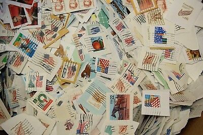 USA Stamps on Paper - Charity Kiloware - 1980s-1990s - 1kg