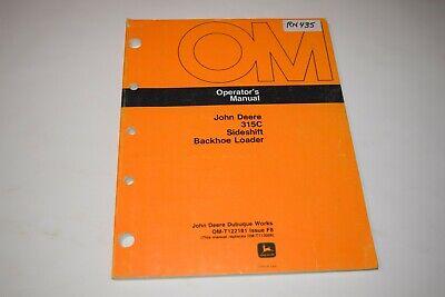 John Deere 315c Sideshift Backhoe Loader Operators Manual