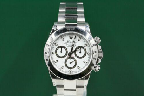Rolex Daytona Model 116520 Stainless Steel White Index Dial -unused-