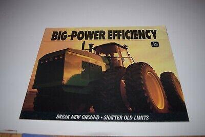 John Deere Big Power Efficiency 8560 8760 8960 Tractors Brochure